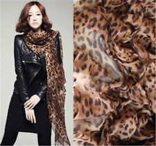 New Women Long Style Wrap Lady Shawl Leopard Chiffon Scarf Scarves Stole