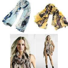 Ladies Women Long Print Cotton Scarf Wrap Shawl Girls Large Silk Scarves