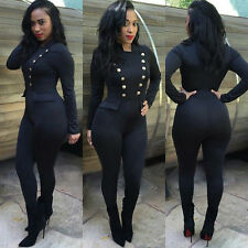 Women Sexy Long Sleeve Clubwear Playsuit Bodycon Party Jumpsuit&Romper Trousers