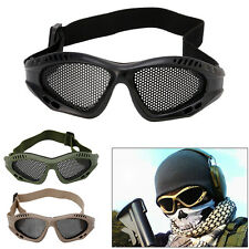 Tactical Motorcycle Airsoft Eye Protection Goggles Anti Fog Metal Mesh Glasses