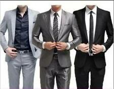 Hot sale Formal Suits One Button Mens Slim Fit Stylish Suit Set Jacket Pants YT