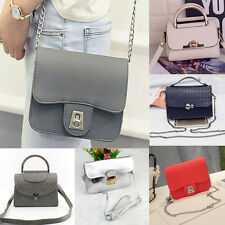 Women Leather Handbag Shoulder Bag Messenger Crossbody Hobo Buckle Tote Bags