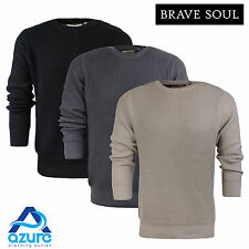 Mens Crew Neck 'Cosmic' Jumper by Brave Soul 100% Cotton Casual S-XL