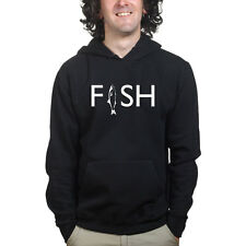 FISH Fishing Fisherman Reel Baiting Bait Running Sweatshirt Hoodie Shirt