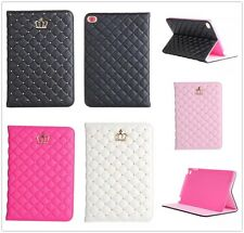 Princess Bling Crown Leather Skin Stand Case For Apple iPad Mini/2/3/4/5th/Air 2