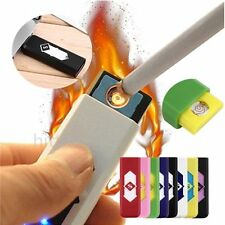 No Gas USB Electronic Rechargeable Battery Flameless Cigarette Lighter Lot IR