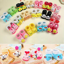 Baby Boy Girl Anti Slip Cotton Sock Boot Shoes Cartoon Animal Newborn Affordable