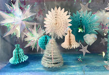 CHRISTMAS DECORATIONS FROZEN ICE PALACE STARS FOUNTAINS GARLANDS BELLS BALLS
