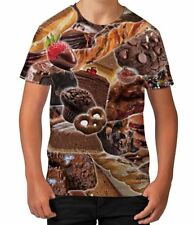 Death By Chocolate Sugar Candy Sweet Food Boys Kids Child T Shirt Ages 3-12