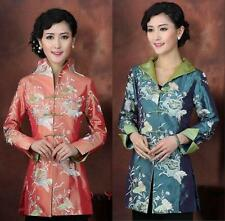 Fashion Chinese Women's silk embroidery jacket /coat Cheongsam Sz: 8 10 12 14 16