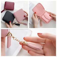 Fashion Women PU Leather Tassel Pendant Small Wallet Card Holder Coin Bag Purse