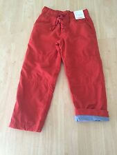 NWT Gymboree Boys Pull on Orange JERSEY lined Athletic Pants 4,5,6,7,8 Gymster