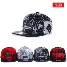 DT101 Authentic PREMIER Pattern Snapback Baseball Cap Hip-Hop Hat Flat Brim Cap