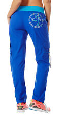 Zumba Fitness Craveworthy Cargo Pants - Surfs Up Blue - NEW
