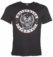 Official Men's Charcoal Motorhead Biker Badge T-Shirt from Amplified