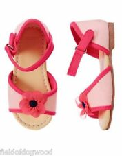 NWT  Gymboree Pretty Poppy Flower Sandals Shoes Toddler girl 5 6 7 8