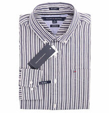 Tommy Hilfiger Men Long Sleeve Custom Fit Button Down Stripe Shirt -$0 Free Ship