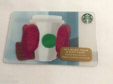 STARBUCKS Gift Card MITTENS holding CUP  - 2016 No Value