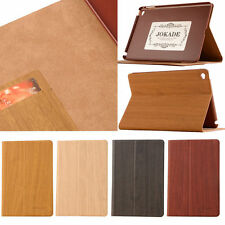 Jokade Wood Grain Flip Cover for Apple iPad Tablet Leather Case Stand Accessory