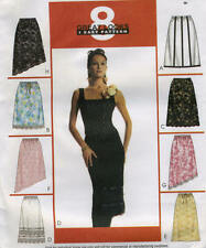 Misses Lined Unlined Skirts Sewing Pattern McCall 3857 Asymmetrical Hem Option