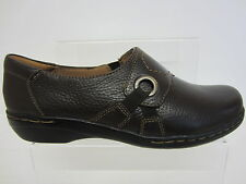 Clarks Ladies BROWN Leather Shoes EVIANNA BOA UK 3 x 9 D Fitt (R3B)