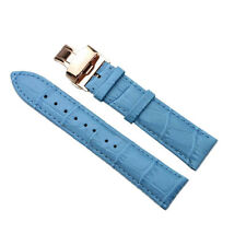 PS Replacement Women's Leather Watch Band Strap Auto Folding Buckle Wristband