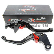 FXCNC Short CNC 3D Rhombus Brake Clutch Hollow Lever For BMW R1200R/R1200RS NEW