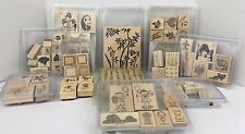 Stampin Up Wood Block Rubber Stamp Sets Choice of Sets New and Used
