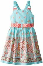 NWT Bonnie Jean Spring Easter Dress with Paisley Border - Size 14