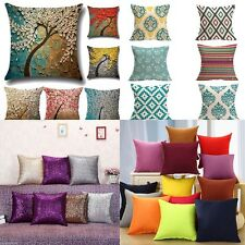New Flower Geometric Sequins Throw Pillow Case Cushion Cover Bed Sofa Home Decor