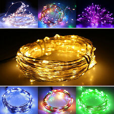 2/4/10M COPPER STARRY MICRO SILVER WIRE STRING FAIRY PARTY XMAS BAR LED LIGHTS