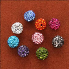20Pcs Quality Czech Crystal Rhinestones Pave Clay Round Ball Spacer Beads 8mm