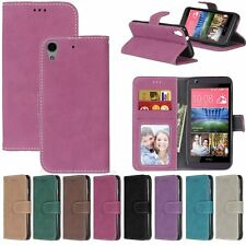 Retro Flip Leather Wallet Cards KickStand Magnetic Case Cover For HTC M8 M9 626S