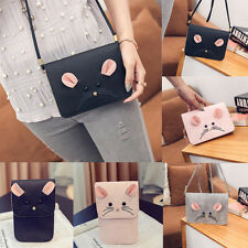 Women Leather Handbag Cute Mouse Crossbodybhoulder Phone Hobo Bag Satchel Purse