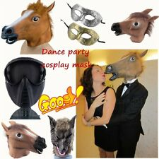 Hot Cosplay Halloween Horse/Wolf Head Mask Costume Prop Roman Gladiator CS Mask