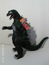 """GODZILLA With Tag 12.5"""" Tall Poseable Figure 1992 Toho King Of Monsters #7282"""