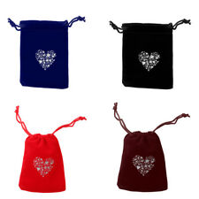 10x Wedding Party Heart Décor Candy Jewelry Velvet Drawstring Gift Bags Pouches