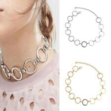 Stylish Alloy O Shaped Linked Collar Necklace Women Lady Jewelry Gift