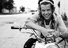 Harry Styles One Direction Large BOX CANVAS Art Print Black & White - All Sizes