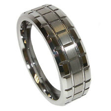 Top Sale Durable 8mm Mens Tungsten Carbide Wedding Band Ring Size 9 10 11 12