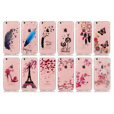 Soft TPU Case Crystal Clear Ultra Thin Skin Cover Patterned for iphone & Samsung