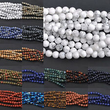 Wholesale Mixed Natural Gemstone Round Spacer Charms Beads 4/6/8/10/12mm Pick