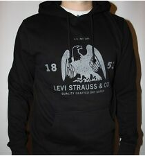 Levis Red & Black Long Sleeve Hooded Sweater Hoodie by Levi's S M L XL