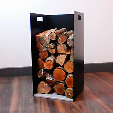 62cm Tall Modern Firewood Log Store Holder - Woodstove Fireplace Wood Holder
