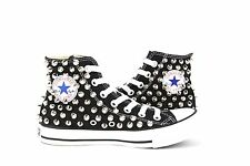 Studded Converse All Star Chuck Taylor High Spike Studs Sneakers Punk Black shoe