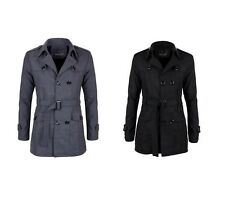 Men's Trench Coat Stylish Double Breasted Style Overcoat Trench Coat Winter