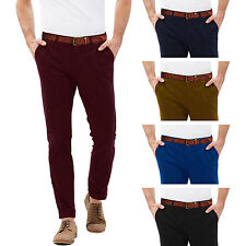 Mens Chino Trousers Slim Stallion Cotton Jeans Casual Pants Designer Khakis New