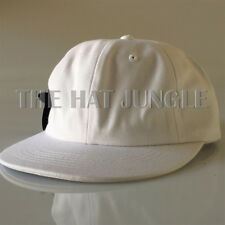[WHITE] Unstructured Hat Strapback Cap Dad Hat 6 Panel Flat Bill Low Profile