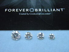 Forever Brilliant Moissanite Select Round 1/2 ct to 3 ct Jewels Charles Colvard