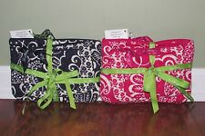 Vera Bradley TWIRLY BIRDS NAVY or PINK COSMETIC TRIO Set of 3 Travel Cases NWT